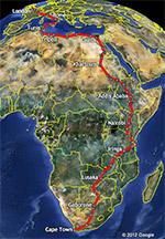 Our Cape Town to London Route